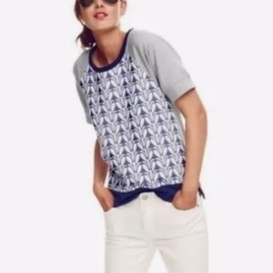 👽J.Crew Paneled Short Sleeves Pullover Sweater